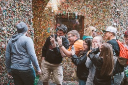 Meanwhile… at the Gum Wall… Yes, he did.