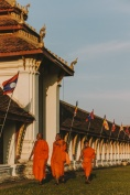 MONKS AT THAT LUANG