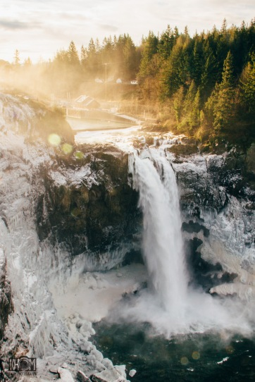 Snoqualmie Falls on a Winter morning